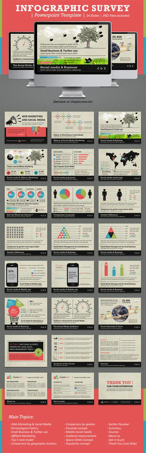 Infographic Survey Powerpoint Template By Kh2838 On Deviantart Survey Infographic Template