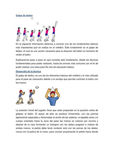 dos imagenes a pdf voleo de pelota alta y baja del voleibol