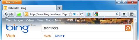 Default Search Firefox Address Bar Change Firefox 4 Address Bar Search Engine To Techtrickz