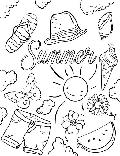 summer season 18 nature printable coloring pages