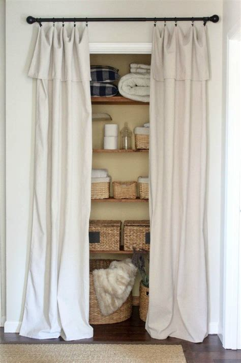 Replace Closet Doors With Curtains 25 Best Ideas About Curtain Closet On Cheap Window Treatments Cheap Remodeling