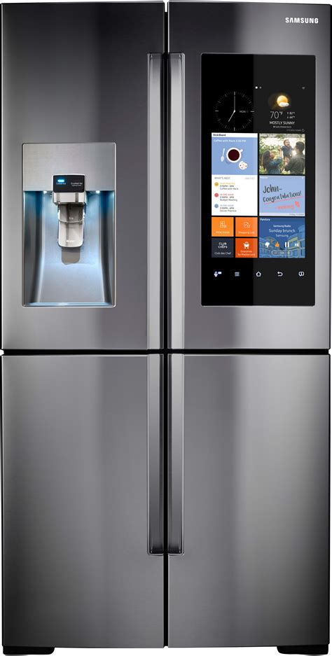 samsung rf22k9581sr 36 inch counter depth 4 door door refrigerator with family hub wifi