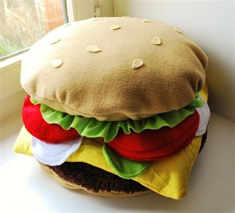Diy Food Pillows by Big Hamburger Pillow Plush Apartment