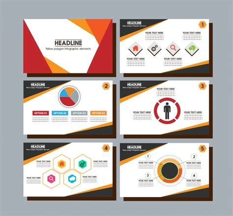 Brochure Presentation Design With Colorful Infographic Styles Free Vector In Adobe Illustrator Adobe Illustrator Presentation Templates