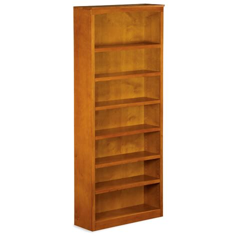 Wooden Bookcases With Adjustable Shelves 7 Tier Wooden Bookcase With Adjustable Shelves Dcg Stores