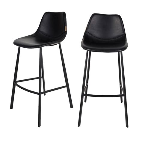 Tabouret Bar Cuir by Lot De 2 Tabourets De Bar Fa 231 On Cuir Franky Dutchbone