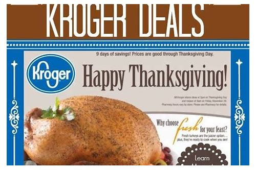 kroger thanksgiving dinner 2018 coupon