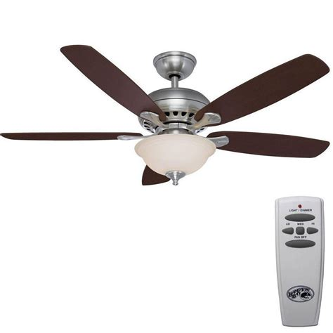 52 inch ceiling fan with remote hton bay southwind 52 in brushed nickel ceiling fan