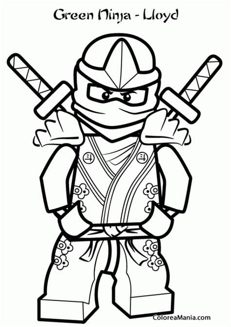 imagenes verdes para niños colorear lloyd ninja verde ninjago dibujo para gratis on