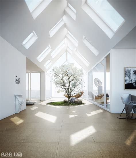 Skylight Design | unique home with skylights and central courtyard