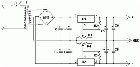 dual power supply circuit diagram dual polarity power supply circuit diagram the circuit