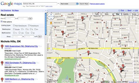 search maps real estate search search marketing communications