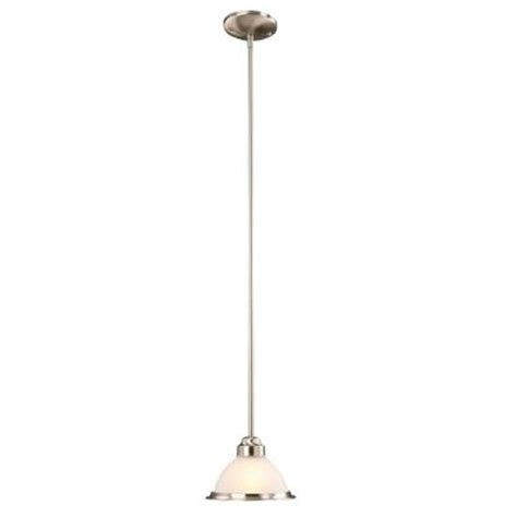 Commercial Electric Lighting Fixtures Commercial Electric Halophane 1 Light Brushed Nickel Mini Pendant
