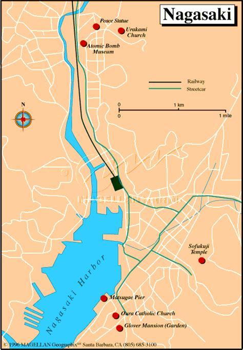 nagasaki map detailed city map of nagasaki map