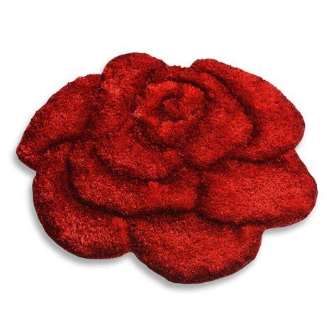 teppich wollweiß teppich shaggy 3d rot 80x80 cm hochflor