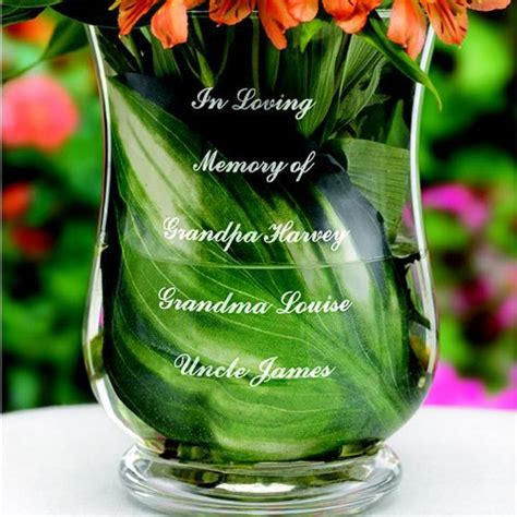 Personalised Memorial Vases by Personalized Engraved Memorial Vase