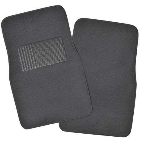Car Floor Mat Heel Pad by Solid Charcoal Premium Car Auto Thick Carpet Floor Mat W
