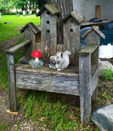 birdhouse bench birdhouse bench birdhouses baths feeders pinterest