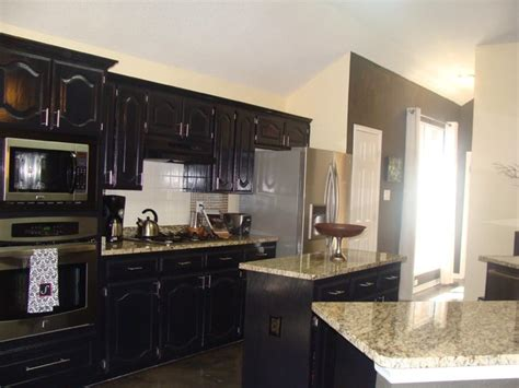 Houzz Black Kitchen Cabinets | black cabinet kitchen contemporary kitchen dallas