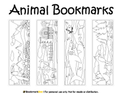 printable animal bookmarks to color animals coloring printable bookmarks coloring pages