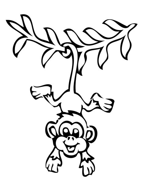 Monkey Coloring Pages Free Large Images Monkey Coloring Pages