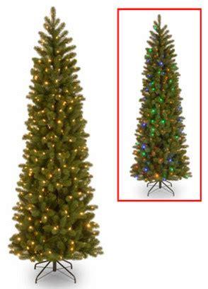 7 1 2 ft feel real douglas fir slim christmas tree w 350