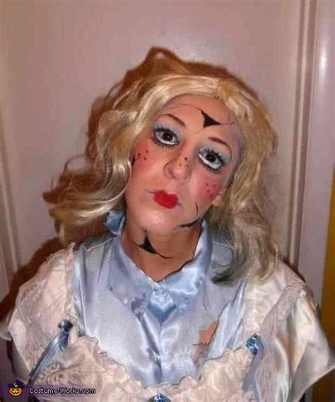 broken porcelain doll homemade halloween costume