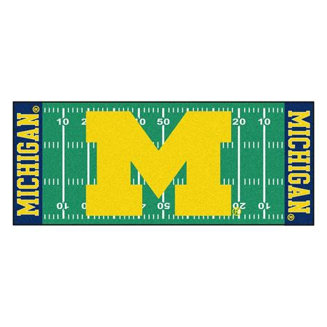 of michigan rug contemporary indoor outdoor fanmats rugs of michigan 2 ft 6 in x 6 ft football