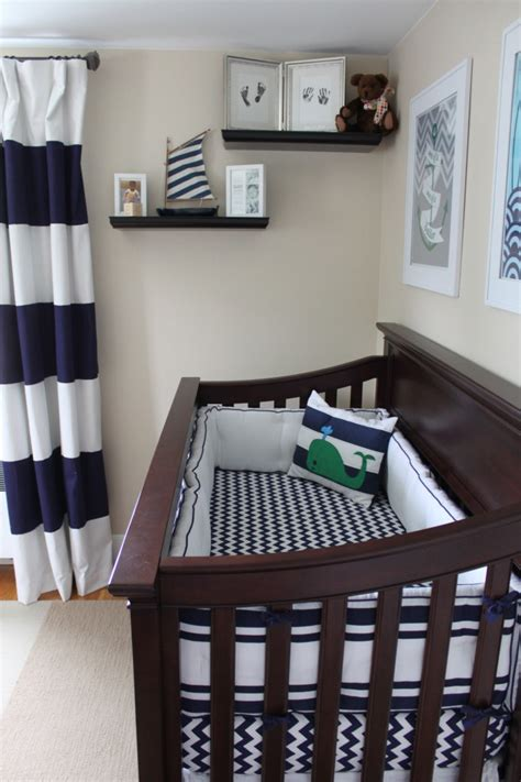 nautical curtains and bedding camden s nautical nursery project nursery