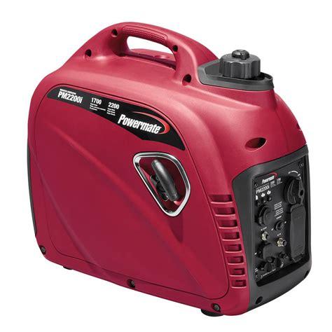 powermate 1700 watt gasoline powered inverter generator