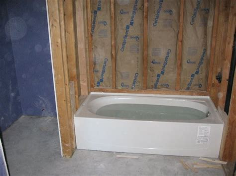 setting a bathtub in mortar mortar bed for bathtub 28 images platform tub won t