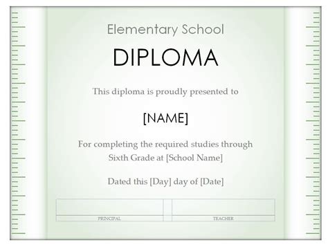 diploma template for word high school diploma high school diploma word template