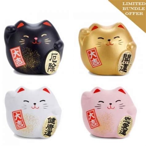 japanese gift japanese lucky cats gift set