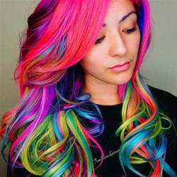multi colored hair ideas 25 best ideas about multi coloured hair on
