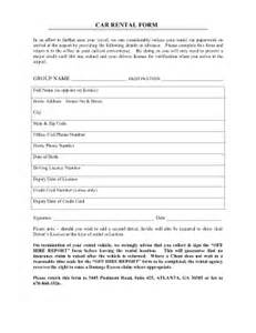 Car Rental Agreement Sle Car Rental Agreement Format Fill Printable