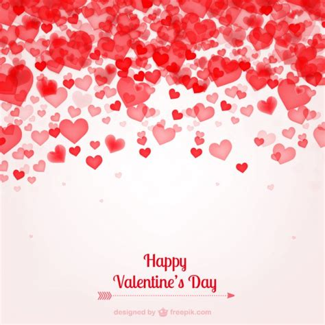 valentine s card with hearts vector free download