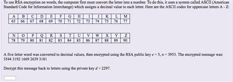 calculator rsa solved to use rsa encryption on words the computer first