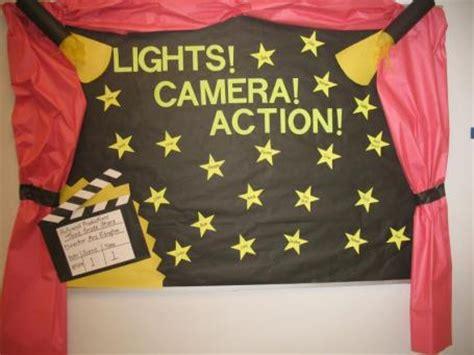 lights, camera, action! red carpet themed bulletin board