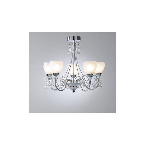 Ceiling Light Pendant Fitting Dar Lighting 5 Light Pendant Ceiling Fitting In Chrome Cra0550 Lighting From The