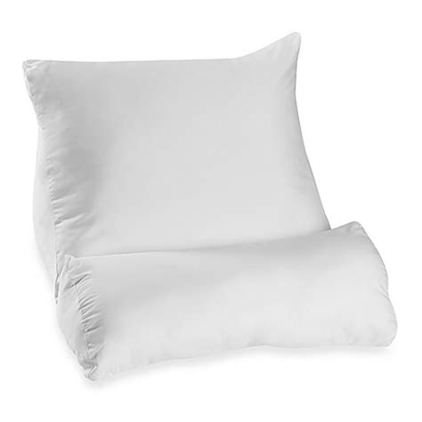 upright bed pillow contour flip pillow bed bath beyond