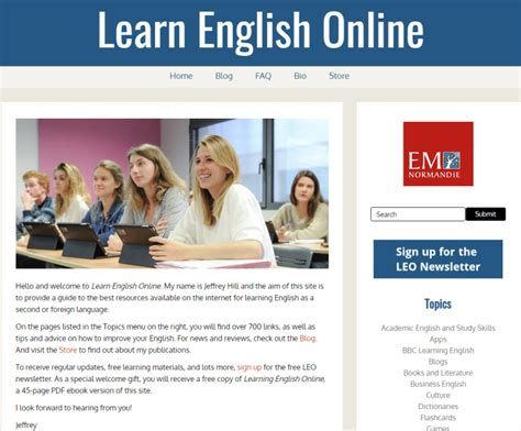 the best way for the studying of english language learn english online the website the english blog