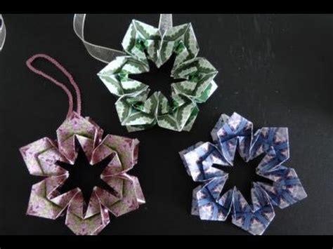paper flower ornament tutorial flower ornament tutorial youtube