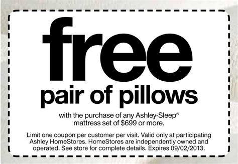 furniture free pillows print coupon king
