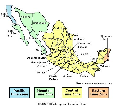 mexico time zones