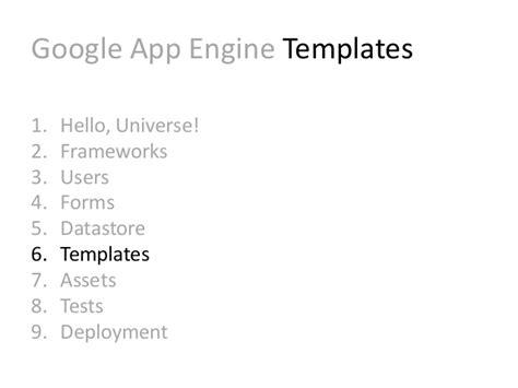 django jinja2 tutorial infinite scale introduction to google app engine