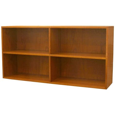 Vintage Danish Wall Mount Bookcase At 1stdibs Wall Mount Book Shelves