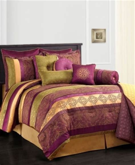 purple and gold bedding sunham leilani 10pc full comforter set purple gold green