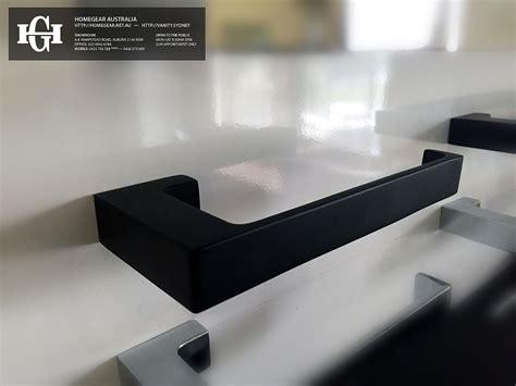 ettore square matte black toilet paper roll holder