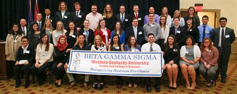 Wku Mba Requirements by Beta Gamma Sigma Western Kentucky