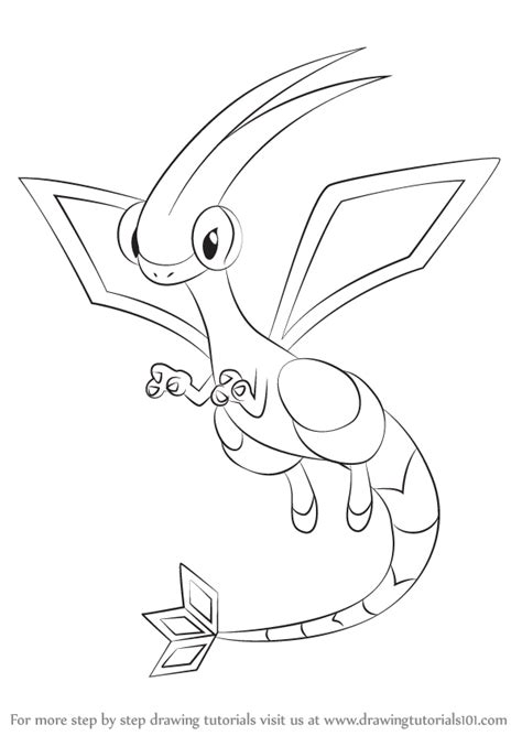 pokemon coloring pages flygon learn how to draw flygon from pokemon pokemon step by
